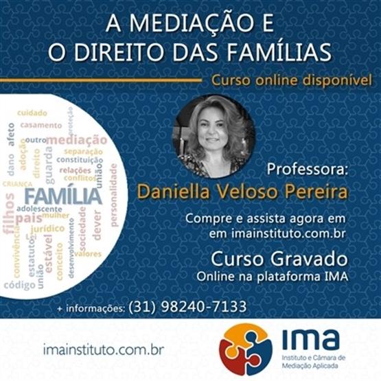 Curso A Mediação e o Direito das Famílias