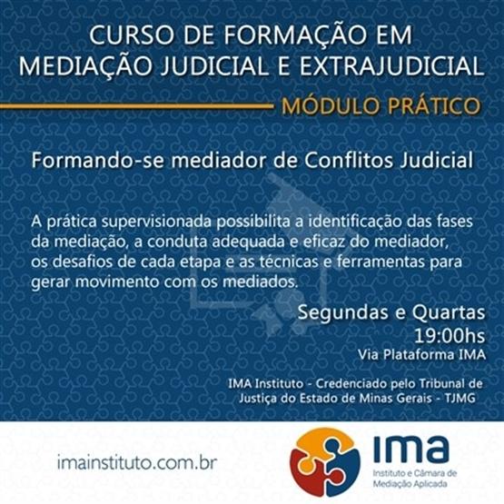 Curso de Formação em Mediação Judicial e Extrajudicial - Módulo Prático Online