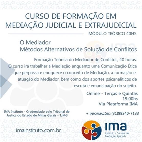 Curso de Formação em Mediação Judicial e Extrajudicial - Módulo Teórico Online
